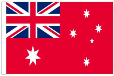 "Australia Merchant Navy Red Ensign 18"" x 12"" (45cm x 30cm) Sleeved Boat Flag"